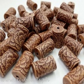 Tube Woodbeads  (14x9mm)