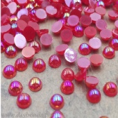 Flatback Rainbow Pearls (Red)