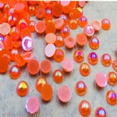 Flatback Rainbow Pearls (Orange)
