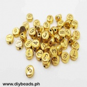 Number Beads (Round Flat #8mm )