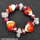 Murano Heart w/ Crystal #10 (Red)