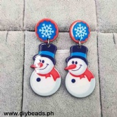 Earring (Snowman Design)