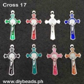 Metal Cross 17 (27mm x 50mm)