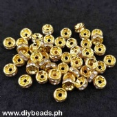 Rhinestone Spacer 6mm