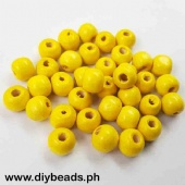 Wood Beads Round 9*10mm (Yellow)