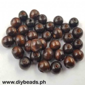 Wood Beads Round 9*10mm (Brown)