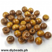 Wood Beads Round 9*10mm (Light Brown)