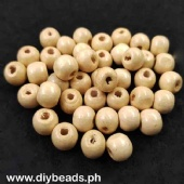 Wood Beads Round 9*10mm (Beige)