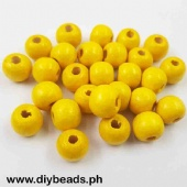 Wood Beads Round 11*12mm (Yellow)