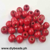 Wood Beads Round 11*12mm (Red)