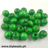 Wood Beads Round 11*12mm (Green)
