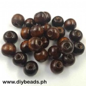 Wood Beads Round 11*12mm (Brown)