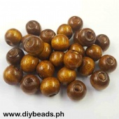 Wood Beads Round 11*12mm (Light Brown)
