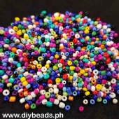 Glass Seed Beads Chalk Assorted 350grams