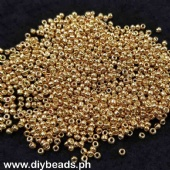 Glass Seed Beads Metallic Gold 350grams
