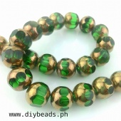 Round Indian Beads Green