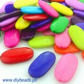 Assorted Flat Oval Beads ( 29 x 15mm )