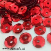 Sequins Red ( 6 mm )