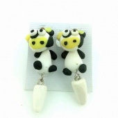 Polymer Clay Character Earring