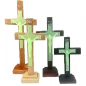 Mahogany Crucifix Luminous